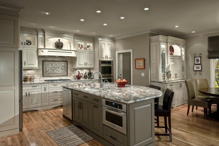 interior transitiona style kitchen